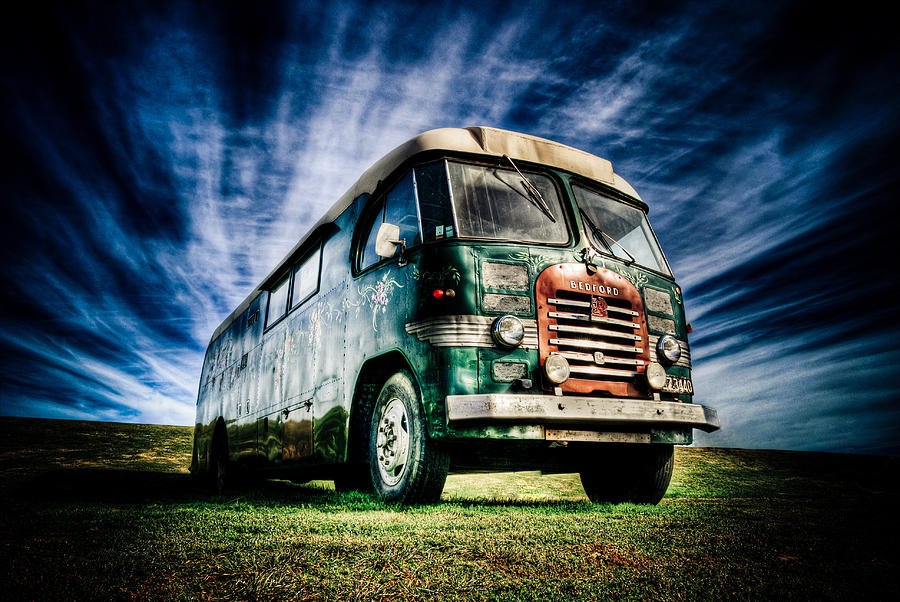Old Bus Photograph - 1963 Bedford Motorhome by Phil motography Clark