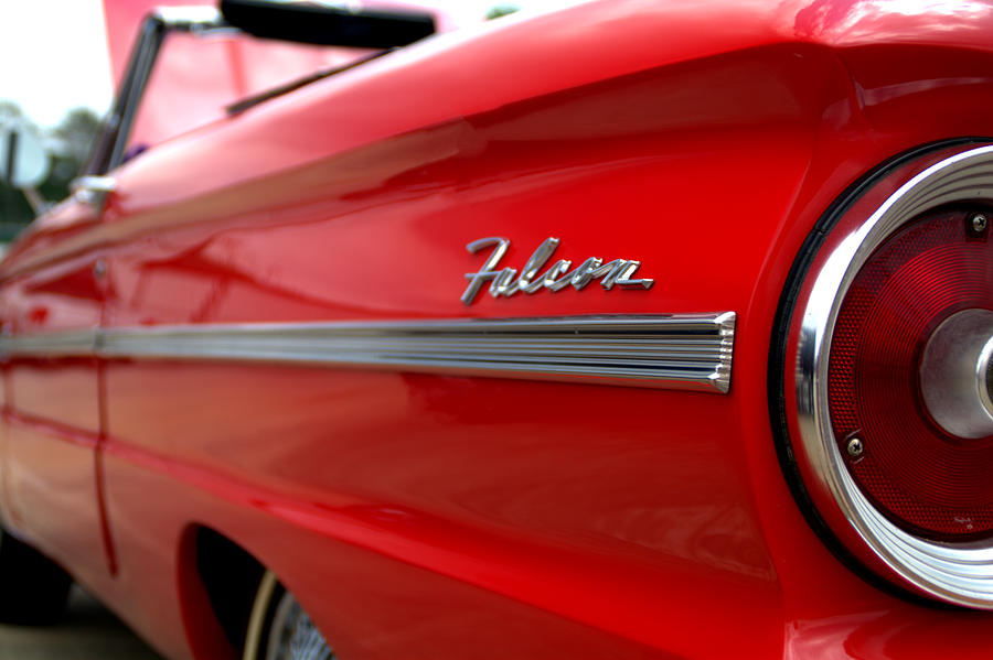 1963 Photograph - 1963 Ford Falcon Name Plate by Brian Harig