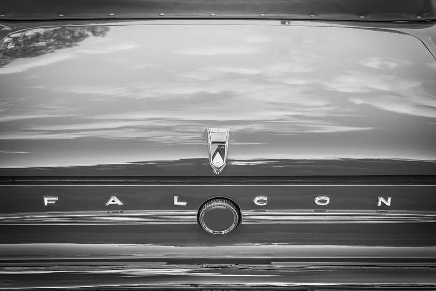 Ford Falcon Photograph - 1963 Ford Falcon Sprint Convertible Bw    by Rich Franco