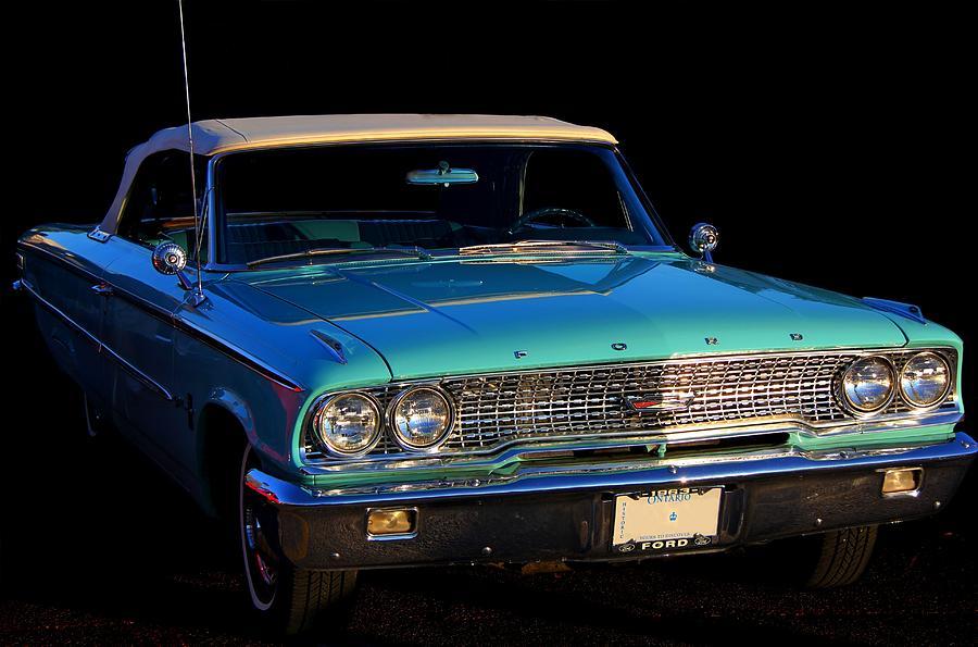 Ford Photograph - 1963 Ford Galaxy by Davandra Cribbie