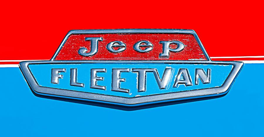 Jeep Photograph - 1963 Jeep Fleetwood Emblem by Jill Reger