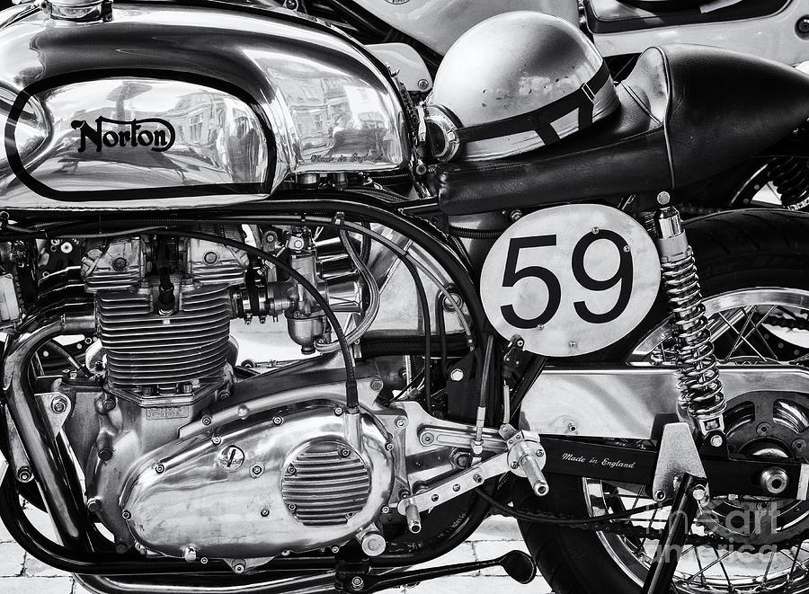 1963 Photograph - 1963 Manx Norton Monochrome by Tim Gainey