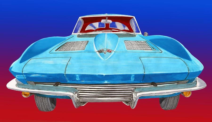 1963 Split Window Corvette Front Painting