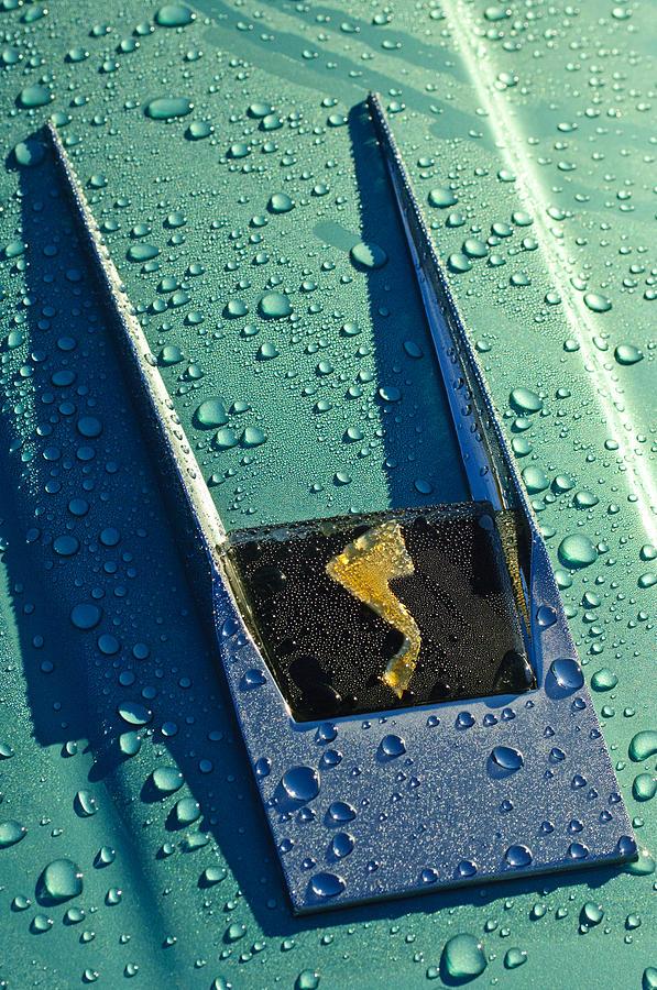 Supercars Photograph - 1963 Studebaker Avanti Hood Ornament by Jill Reger