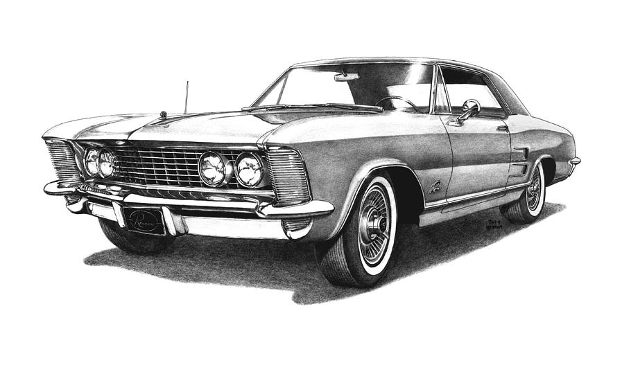 1964 Buick Riviera Drawing By Nick Toth