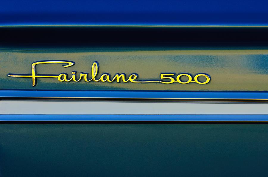 Classic Car Photograph - 1964 Ford Fairlane 500 Emblem by Jill Reger