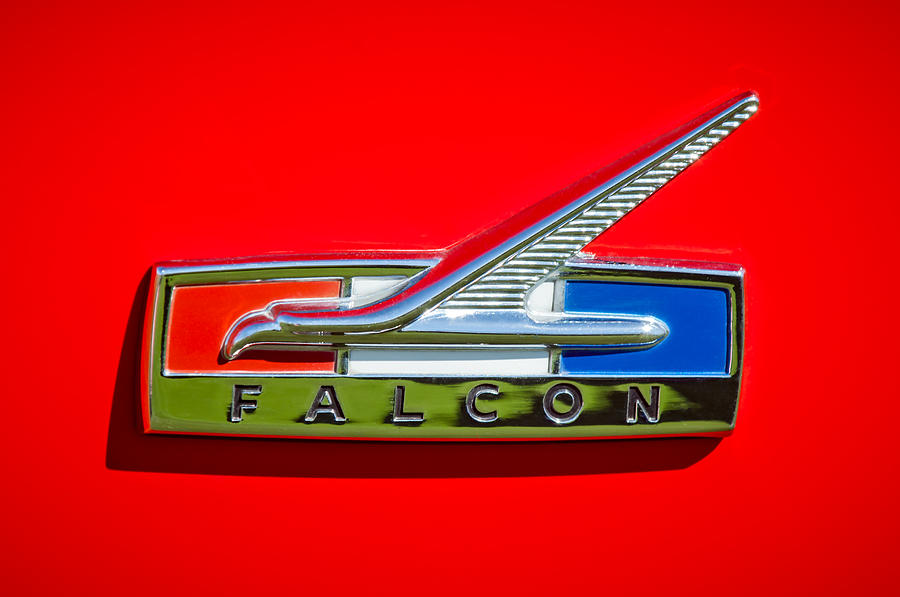 Classic Cars Photograph - 1964 Ford Falcon Emblem by Jill Reger