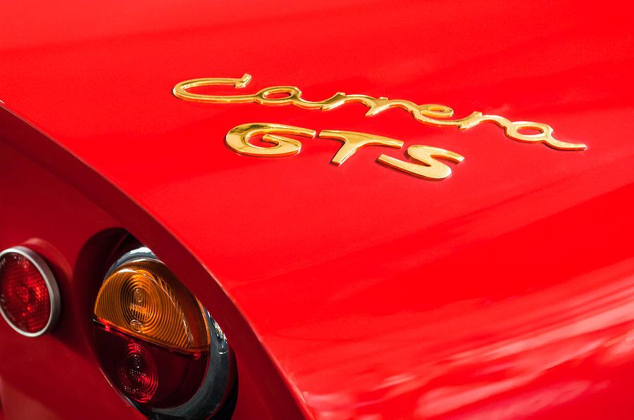 Porsche Emblem Photograph - 1964 Porsche Carrera Gts Taillight Emblem by Jill Reger