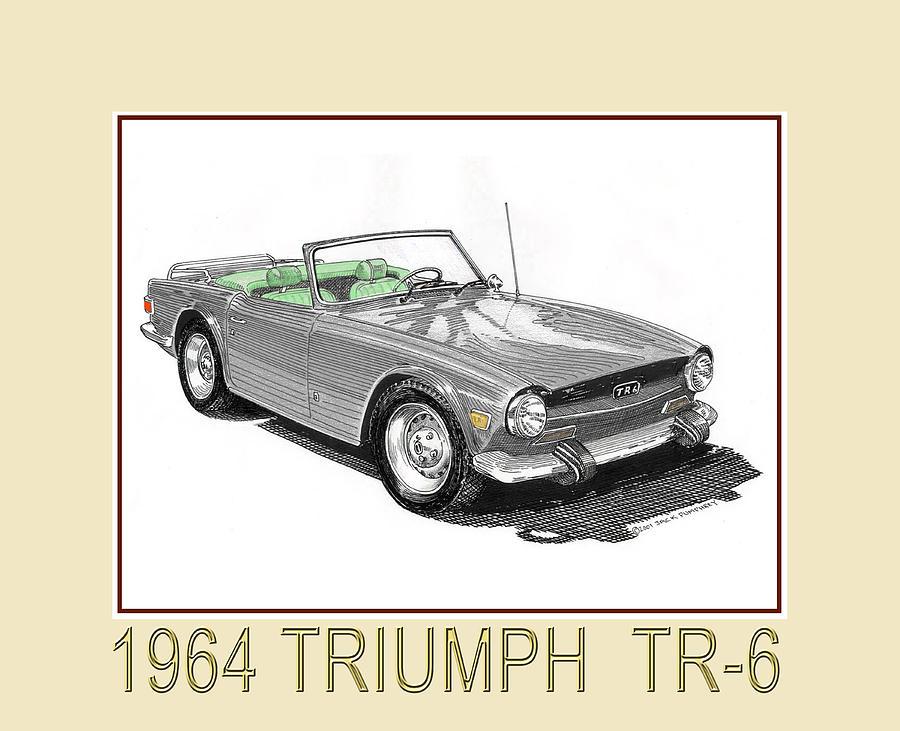 1964 Triumph T R 6 Drawing By Jack Pumphrey