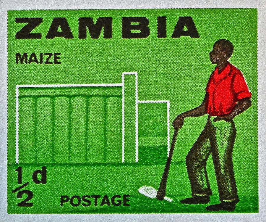 1964 Zambia Farmer Stamp Photograph