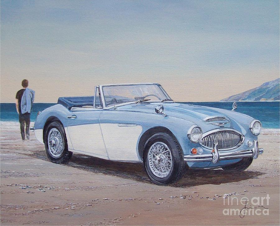 1965 Austin Healey Mark IIi Painting by Sinisa Saratlic
