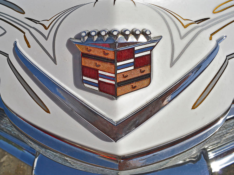 1965 Photograph - 1965 Cadillac Hood Emblem by Bill Owen