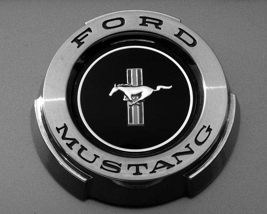 1965 ford mustang emblem photograph by dj monteleone. Black Bedroom Furniture Sets. Home Design Ideas