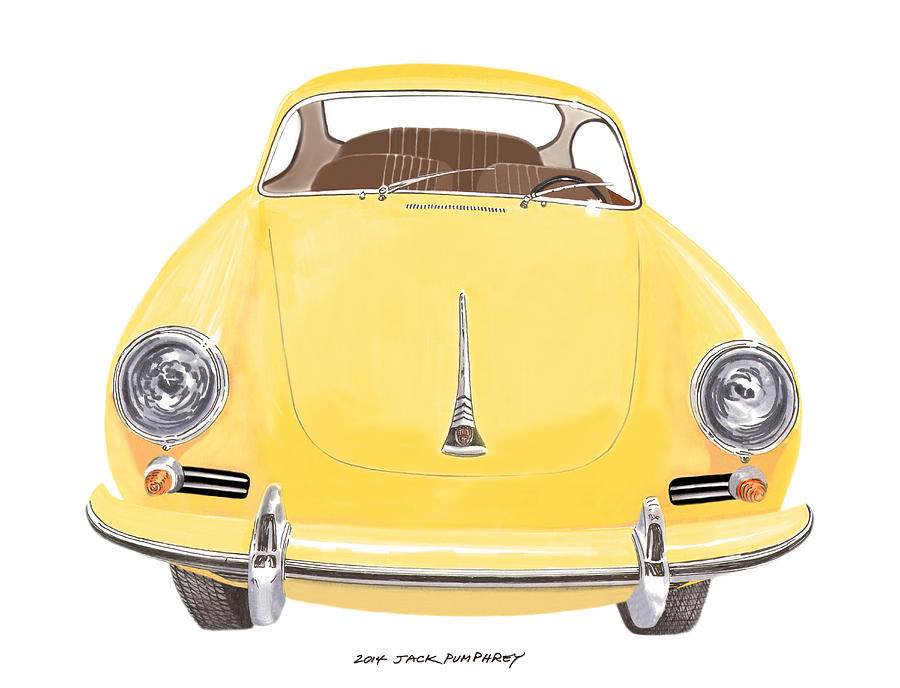 Porsche 356 A Painting by Jack Pumphrey