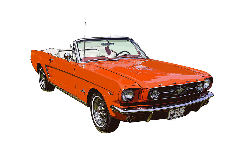 Red Convertible Ford Mustang Classic Car Photograph By