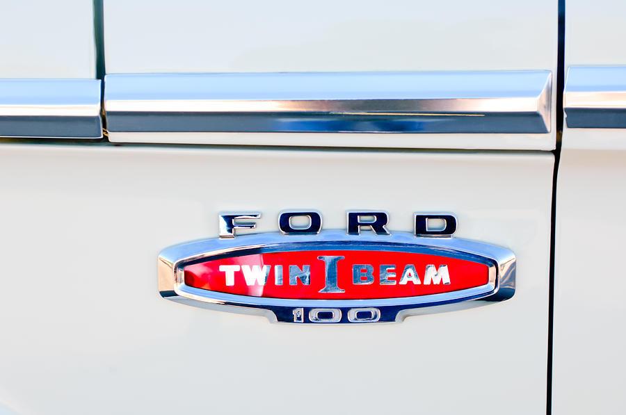 1966 Ford F100 Emblem Photograph By Jill Reger