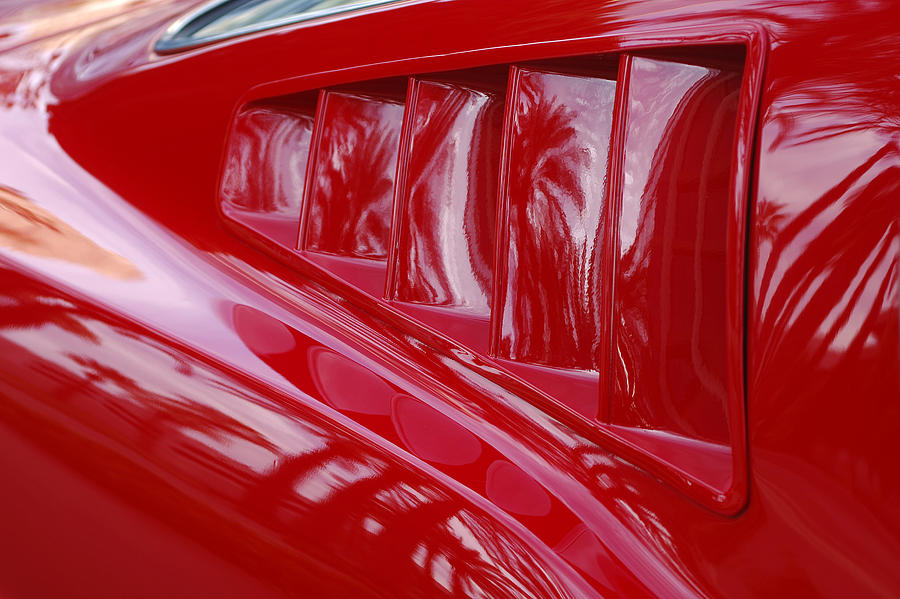 Muscle Cars Photograph - 1966 Ford Mustang Gt Side Scoops -032c by Jill Reger