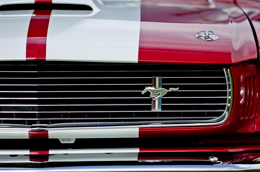 1966 Photograph - 1966 Shelby Cobra Gt 350 Grille Emblem by Jill Reger