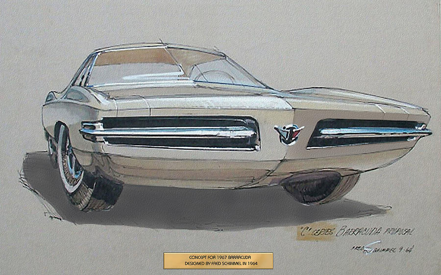 1967 Barracuda Plymouth Vintage Styling Design Concept