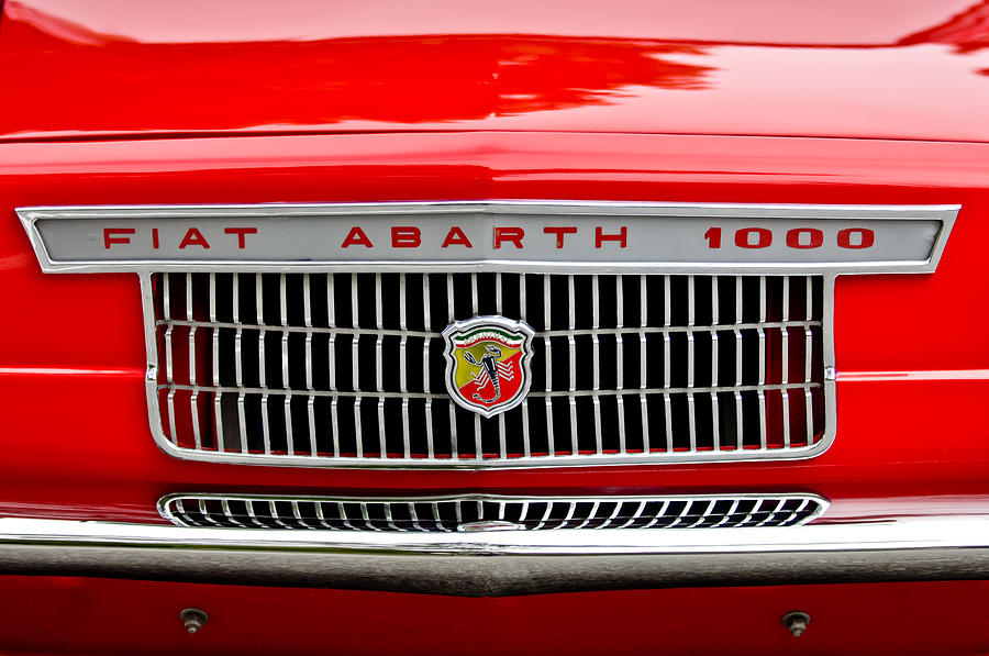 Grill Photograph - 1967 Fiat Abarth 1000 Otr Grille by Jill Reger
