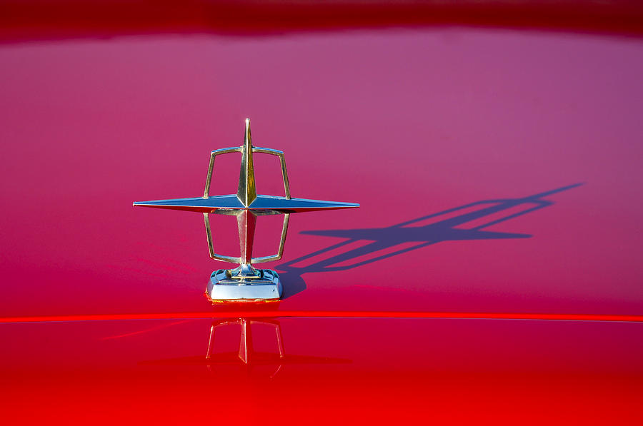 Classic Cars Photograph - 1967 Lincoln Continental Hood Ornament -158c by Jill Reger