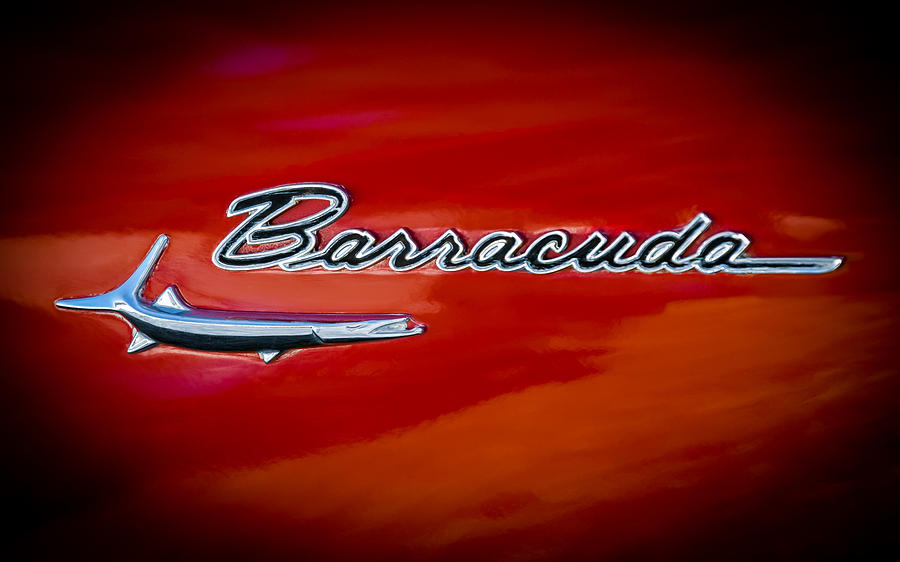 1967 Plymouth Barracuda Emblem Photograph By Jill Reger