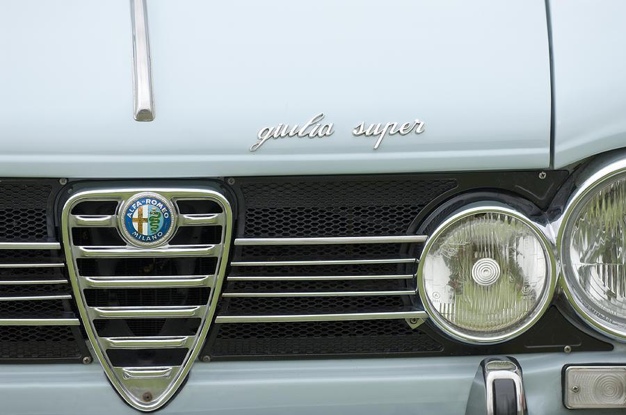 Alfa Photograph - 1968 Alfa Romeo Giulia Super Grille by Jill Reger
