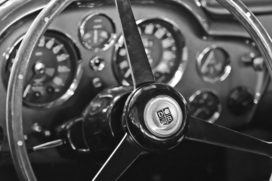 Aston Photograph - 1968 Aston Martin Steering Wheel Emblem by Jill Reger