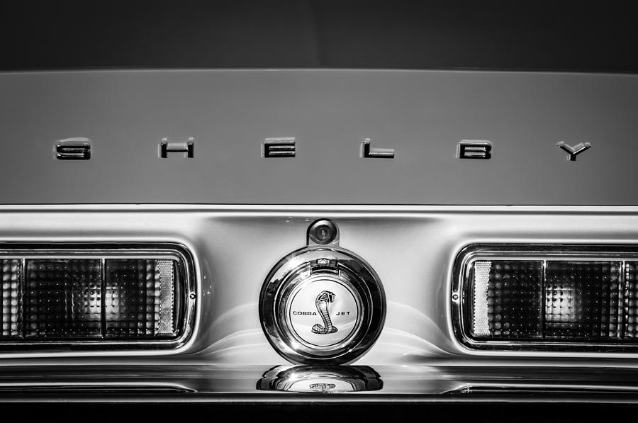 1968 Shelby Gt500 Kr Fastback Rear Emblem - Taillights -1085bw by Jill Reger