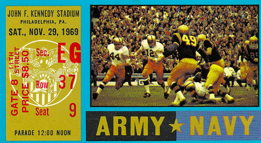 1969 Army Navy Ticket Photograph