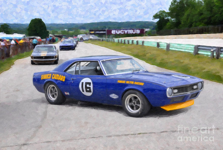 1969 Camaro Z28 Trans-am Race Car Photograph by Tad Gage