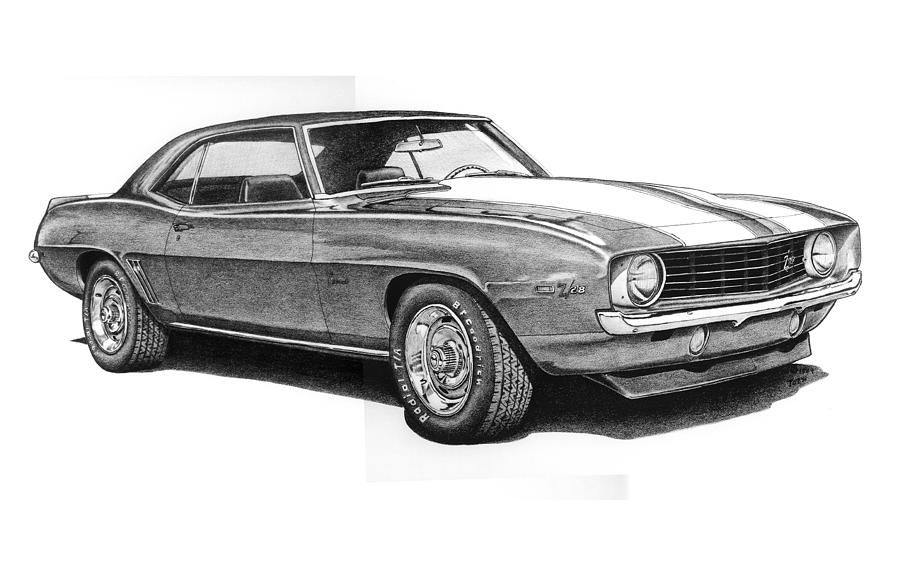 Chevrolet Camaro Z Coupe Drawing By Nick Toth