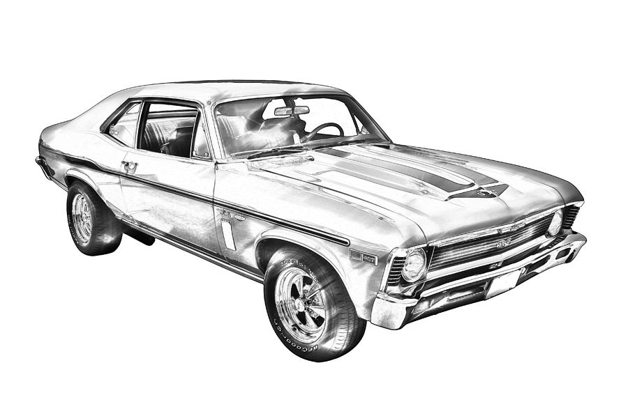 Muscle Car With Engine Coloring Pages besides 1969 Chevy Nova in addition Baldwin Motion Chevelle moreover Chevrolet Camaro also Muscle Car Coloring Pages. on 1970 chevelle ss muscle car