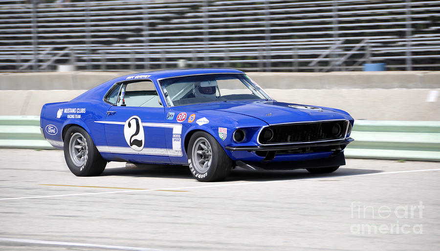 1969 Ford Mustang Boss 302 Trans-Am Race Car Photograph by Tad Gage