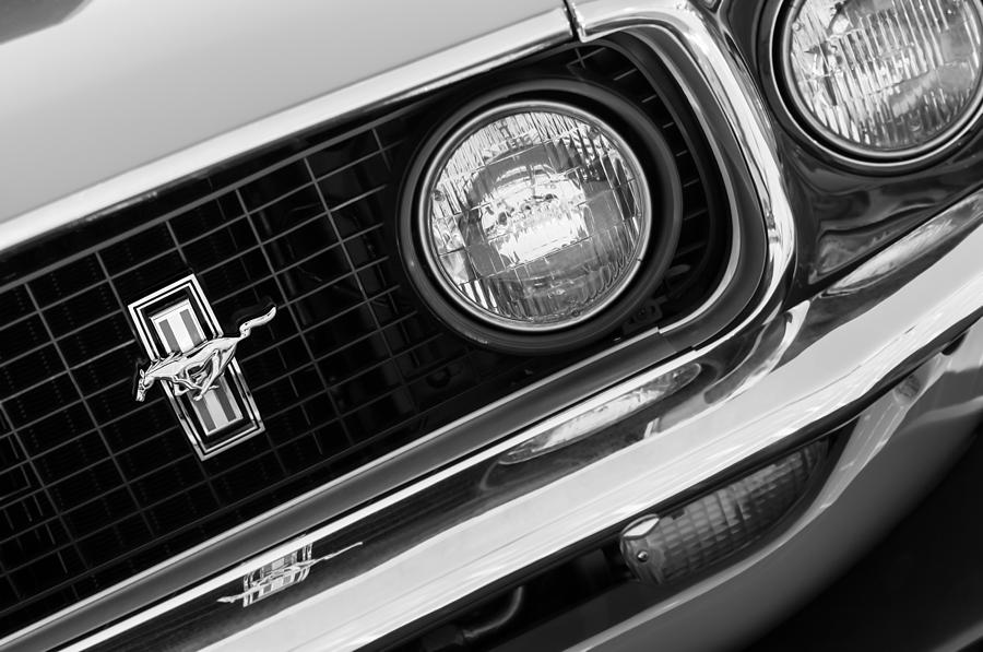 1969 Ford Mustang Boss 429 Grille Emblem Photograph - 1969 Ford Mustang Boss 429 Grill Emblem by Jill Reger