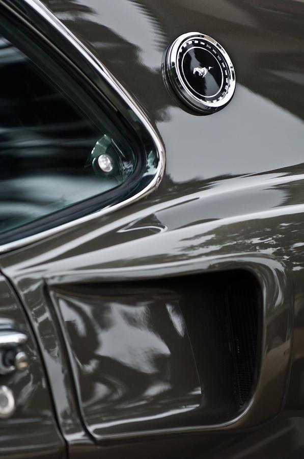 Emblem Photograph - 1969 Ford Mustang Mach 1 Emblem 2 by Jill Reger