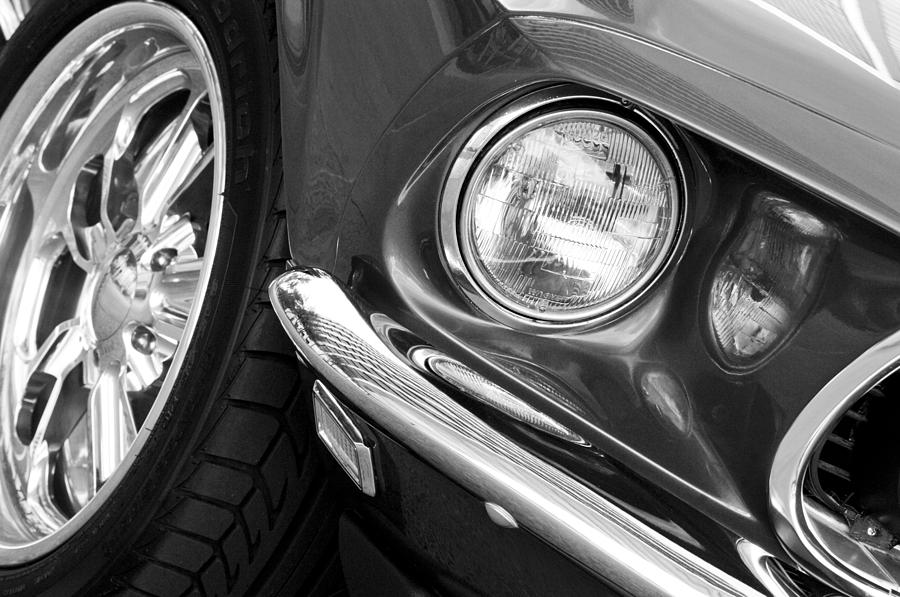 1969 Mustang Photograph - 1969 Ford Mustang Mach 1 Front End by Jill Reger