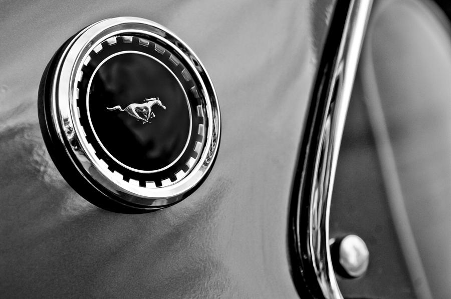 Muscle Car Photograph - 1969 Ford Mustang Mach 1 Side Emblem by Jill Reger