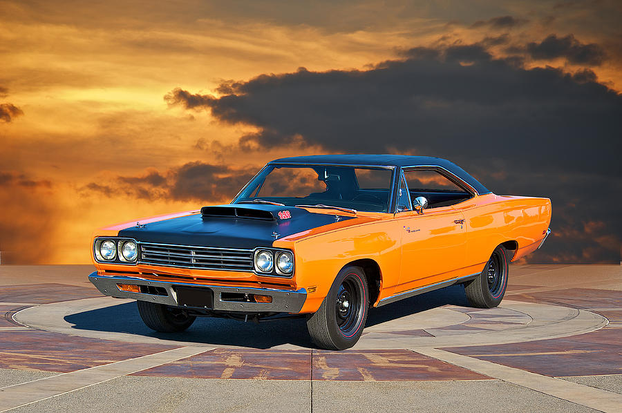 Alloy Photograph - 1969 Plymouth 440 6BL Roadrunner by Dave Koontz