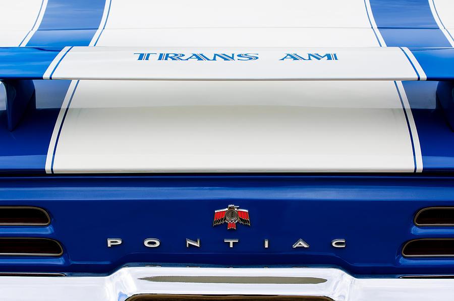 1969 Pontiac Photograph - 1969 Pontiac Trans Am Tail Fin Emblem by Jill Reger