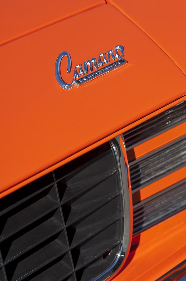 Camaro Photograph - 1969 Rs-ss Chevrolet Camaro Grille Emblem by Jill Reger