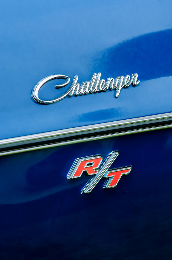 R/t Photograph - 1970 Dodge Challenger Rt Convertible Emblem by Jill Reger