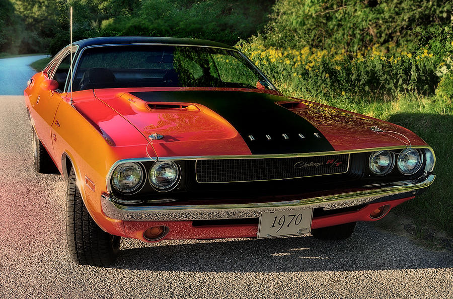 Challenger Photograph - 1970 Dodge Challenger Rt by Thomas Schoeller