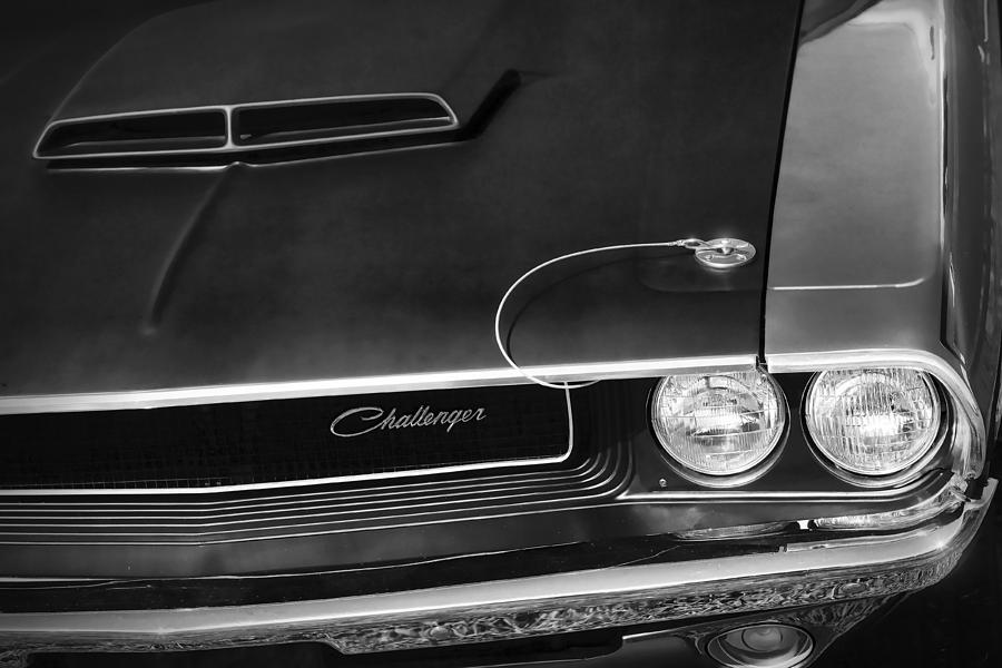1970 Dodge Challenger T A In Black And White Photograph By Gordon