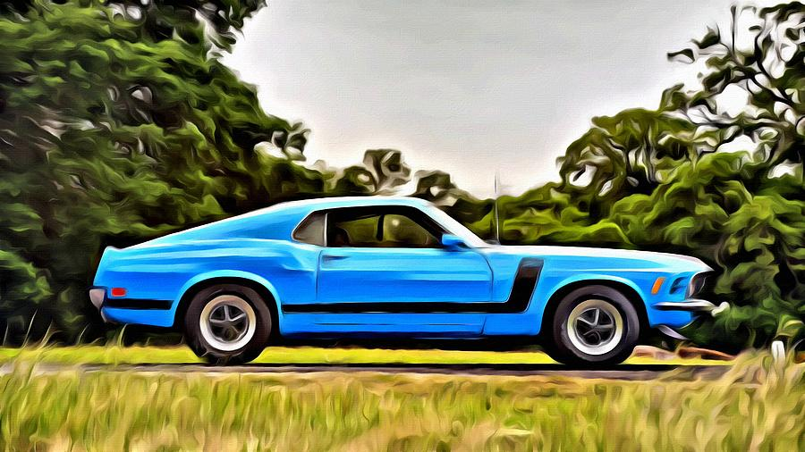 1970 Ford Mustang Boss 302 Fastback By Florian Rodarte