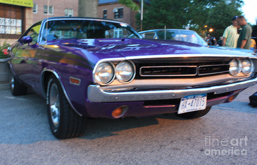 Telfer Photograph - 1971 Challenger Front And Side View by John Telfer