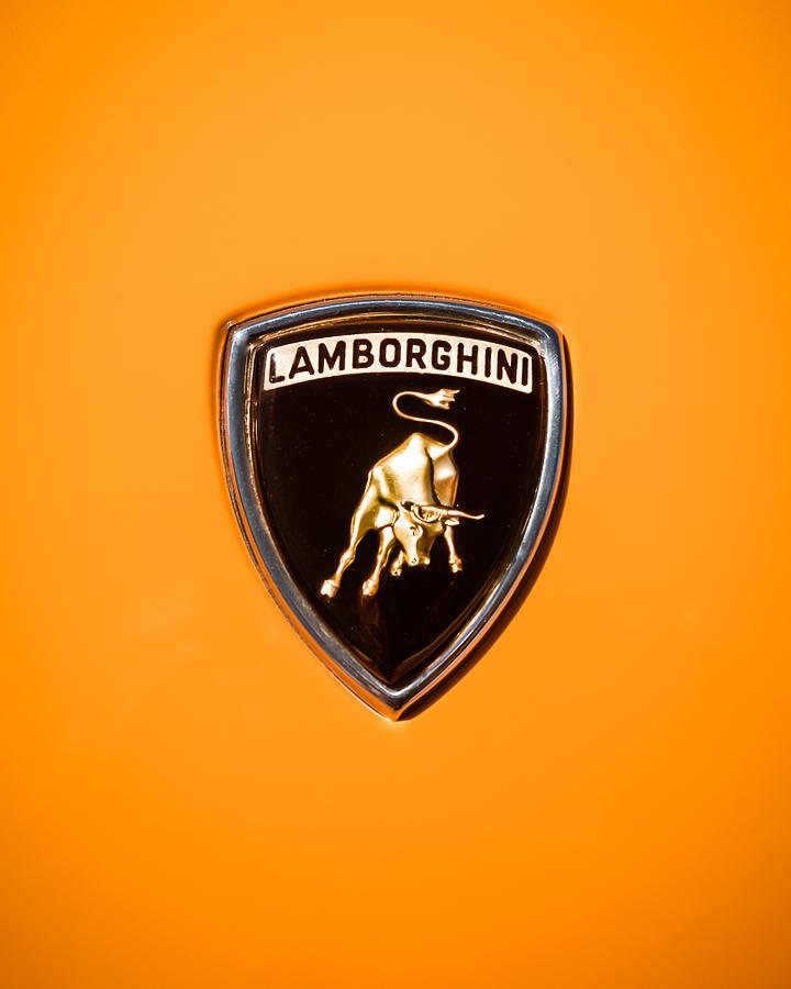Lamborghini Photography Photograph - 1971 Lamborghini Miura Sv Emblem -0376c45 by Jill Reger