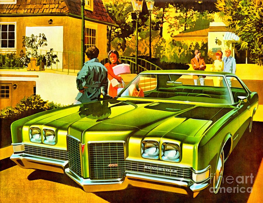 Car Painting - 1971 Pontiac Bonneville Coupe by Vincent Monozlay