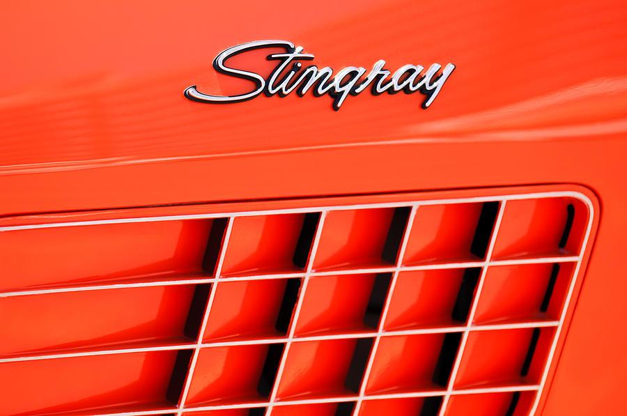 1972 Chevrolet Corvette Stingray Emblem Photograph - 1972 Chevrolet Corvette Stingray Emblem 3 by Jill Reger