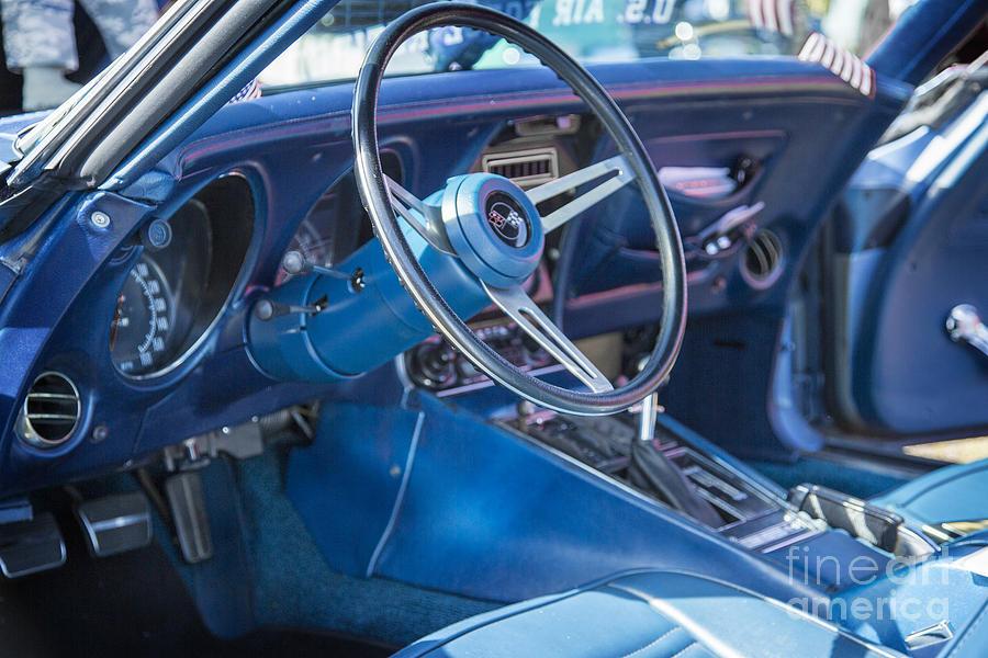 1972 Chevrolet Corvette Stingray Interior Blue 303102 Photograph By